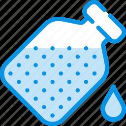 bottle, drop, flask, open icon
