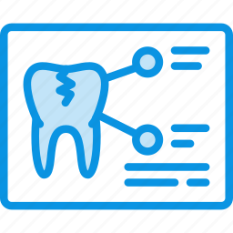 medicine, tomography, tooth, xray icon