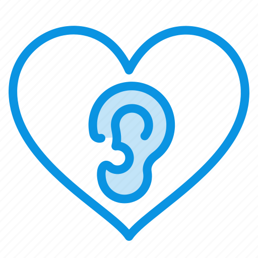 ear, heart, loving icon
