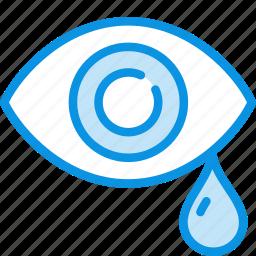 drops, eye, pain, sadness, tears icon