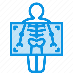 chest, fluorography, medicine, ribs, roentgen, xray icon