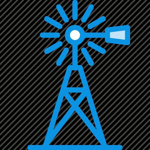agriculture, farm, generator, mill, village, wind icon