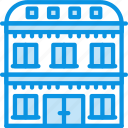 apartment, building, hotel icon