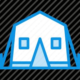 camp, tent icon