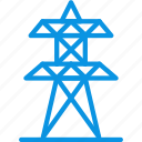 electricity, generation, lines, power, station, tower icon