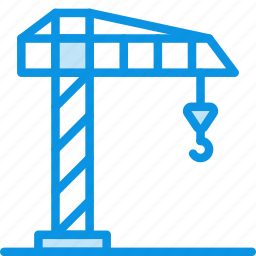 building, construction, crane, hook, industrial, industry icon