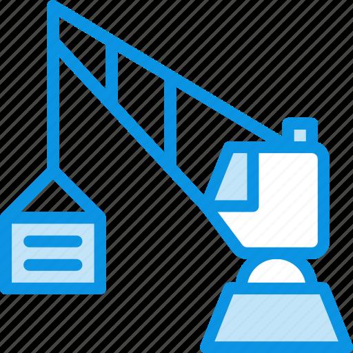 construction, crane, harbor icon