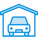 car, garage, service icon
