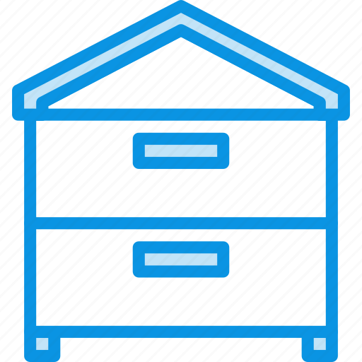 bee, beehive, hive, house icon