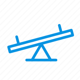 kids, park, teeter, totter icon