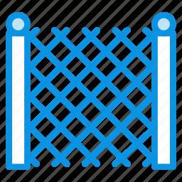 building, fence, garden, metal icon