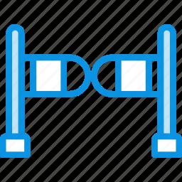 barrier, entrance, fence, gate, swing, turnstile icon