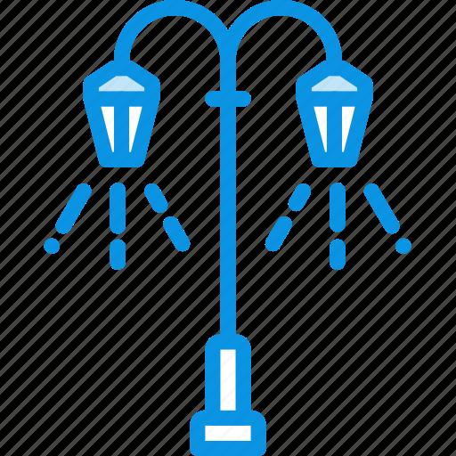 lamp, lantern, light, street icon