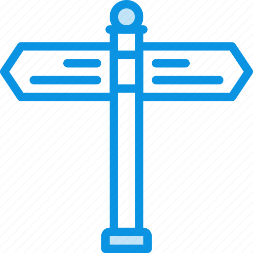 navigation, sign, street icon