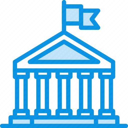 bank, banking, building, business, city, finance, government, hall icon