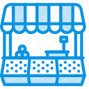building, food, market, shop, store icon