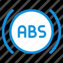 anti, brake, system icon