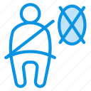 airbag, belt, seat icon
