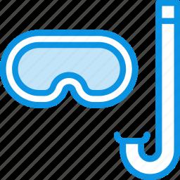 aquatic, dive, diving, marine, mask, snorkel, snorkeling icon