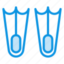 aquatic, dive, diving, flippers, marine, nautical icon