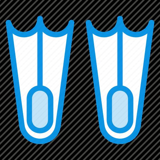aquatic, dive, diving, flippers, marine, nautical icon