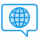 bubble, global, language icon