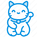 cat, maneki, neko icon