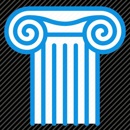 ancient, column, culture icon
