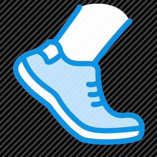 allowed, foot, shoe, walk icon