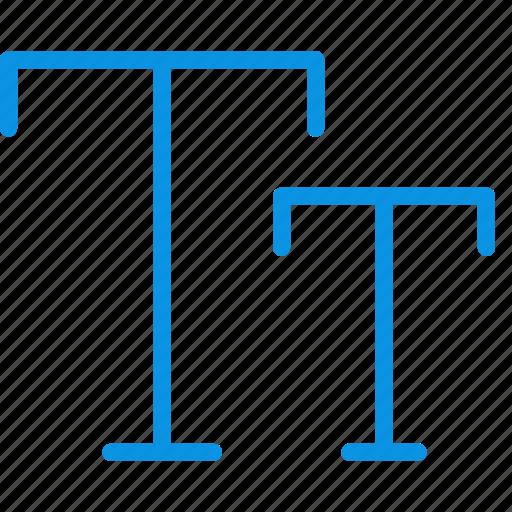 big, caps, font, fotmat, size, small, text icon