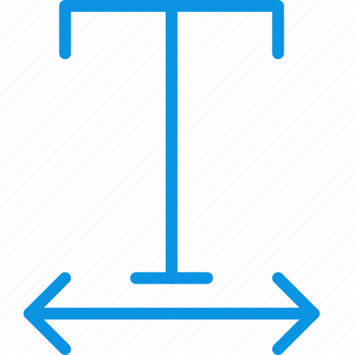 font, format, horizontal, horizontally, scale, text, tracking icon