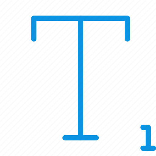 font, subscript icon