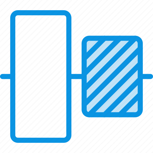 align, center, middle, objects, tool, vertical icon