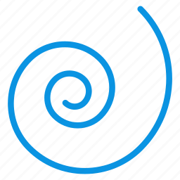 draw, object, spiral, tool icon