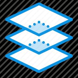 arrange, design, layers, levels, stack icon