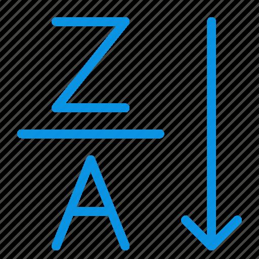 alphabetical, order, sort icon