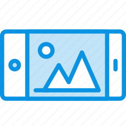 call, horizontal, iphone, landscape, mobile, phone, smartphone icon