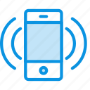 ring, smartphone, vibrate icon