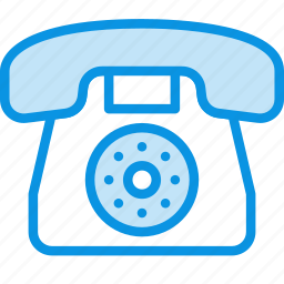 call, communication, contact, device, old, phone icon