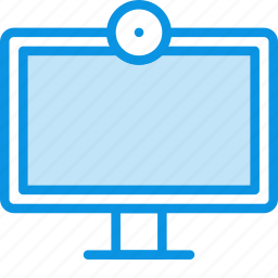 broadcast, device, entertainment, television, tv, watch, webcam icon