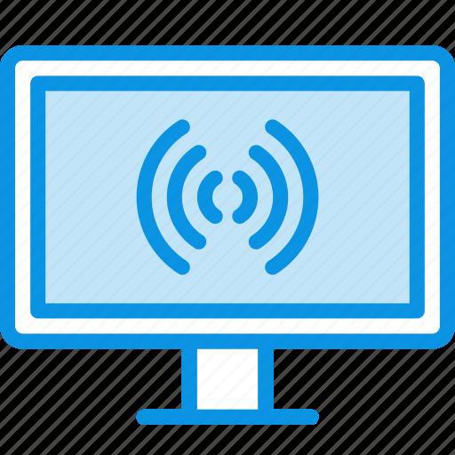 monitor, tv, wireless icon