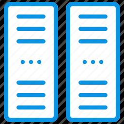 center, data, network, pc, rack, server icon