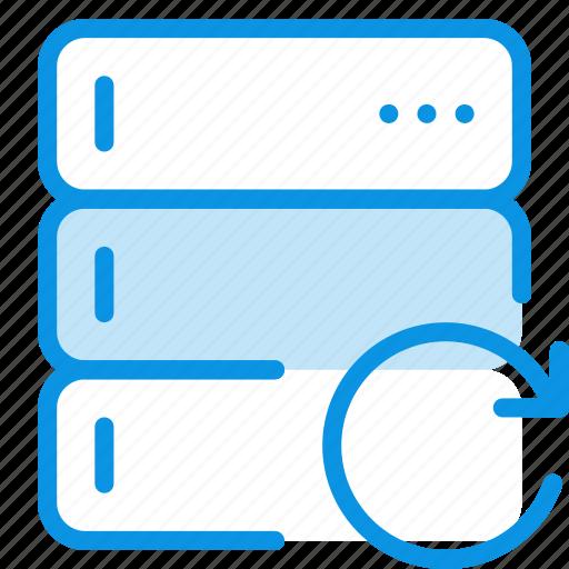base, data, database, rack, refresh, reload, server icon