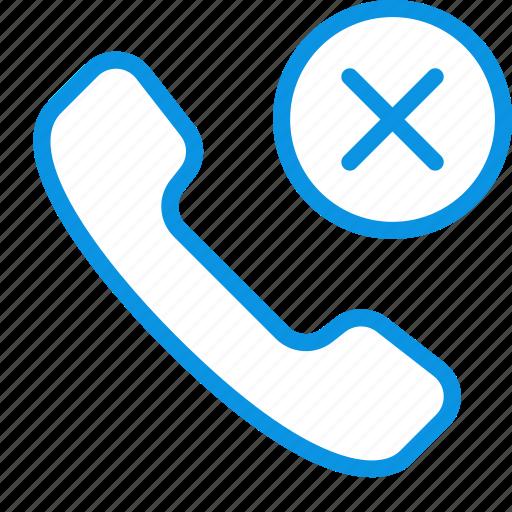 call, handset, hang up icon