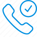 call, checked, handset icon