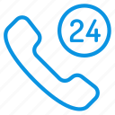 all time, call, support icon