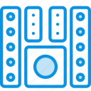 audio, bass, home, monitor, music, speaker, system, theater icon