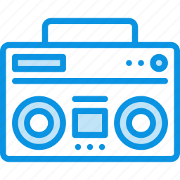 audio, boombox, music, radio, sound, speaker icon