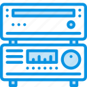 amplifier, media, receiver icon