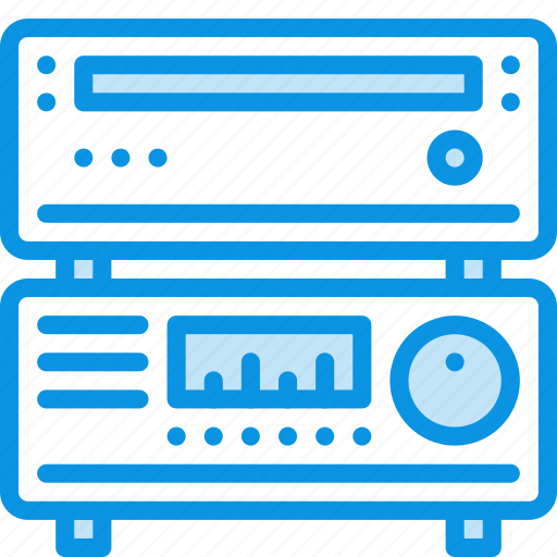 amplifier, bluray, cd, dvd, media, player, receiver icon